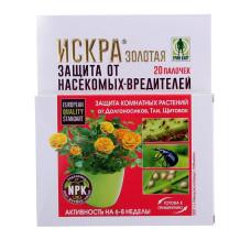 Искра Золотая Защита комнатных растений палочки 20шт/Грин Бэлт