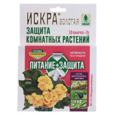 Искра Золотая Защита комнатных растений палочки 10шт/Грин Бэлт