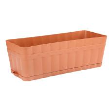 Ящик для цветов Изюминка 12л коричневый с поддоном М3355