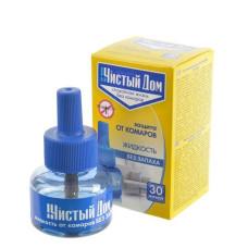 Жидкость для фумигатора от комаров Без запаха 30 ночей 30мл/Чистый дом